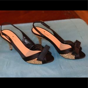 Kate Spade Peep Toe Glitter Heels Sz. 6.5